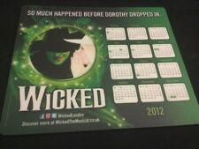 Wicked The Musical London Mousemat Featuring The 2012 Calendar