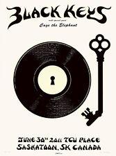 MINT EMEK Black Keys 2011 Saskatoon WHITE A/P Poster 19/20