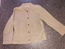 Per una M&S ladies cream camel beige summer spring jacket casual cord Blazer 16