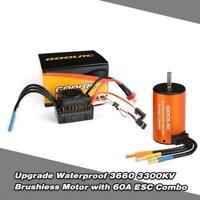 3660KV Brushless Motor+60A ESC Combo Kit Waterproof For 1/10 Scale RC Car
