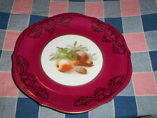 Beautiful Bavaria Germany Plate Pear Nut Center 7 5/8 Inch Wide