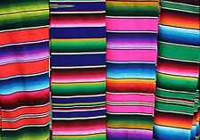 4X6 Ft. Multi-Colored Zarape Mexican Yoga Blanket Decor Thows From Mexico New