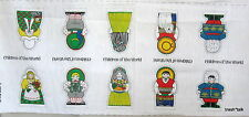 Vtg 70s Fabric Panel Doll Children of World Christmas ornament soft toy Eskimo
