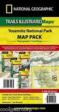 National Geographic Trails Illustrated CA Yosemite Park Map Pack Bundle 1020584