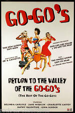 Go-Go's 1994 Return To The Valley Original Promo Poster