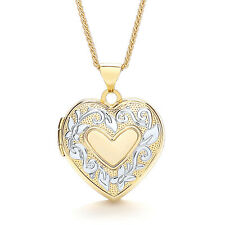 Family Locket Four Photograph Locket Heart Locket Two Colour Gold Locket