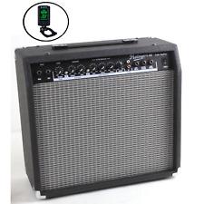 40 Watt Guitar Amp Dual Inputs Overdrive/Distortion Reverb 3-Band EQ Tuner New