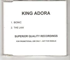 (HI43) King Adora, Bionic / The Law - DJ CD
