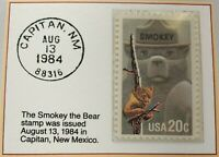 1984 20c The Smokey the Bear Stamp