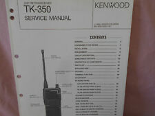 KENWOOD TK-350 SERVICE MANUAL