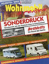 Sonderdruck Wohnmobil & Reisen 2/01 Dethleffs Premium Class Griechenland 2001