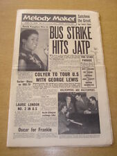 MELODY MAKER 1958 APRIL 12 JAZZ AT THE PHILHARMONIC LOUIS ARMSTRONG KEN COLYER +