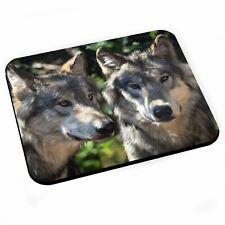 Tapis de Souris Magnifique Couple de Loup Photo Nature Animaux Sauvages