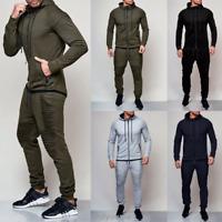 Men Tracksuit Set Hoodies Sweatshirt Slim Fit Harem Pants Jogger Sportswear NEW
