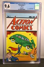 Action Comics #1 Cgc 9.6 white pgs Loot Crate June 1938 Reprint 1st App Superman