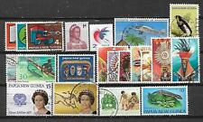 PAPUA NEW GUINEA, 21 VARIOUS, MIXED