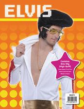 Rock Star Presley Rock N Roll RE Pompadour Parrucca Accessorio Costume Festa