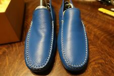 Tods BLUE LEATHER DRIVING Mocassin SHOES SIZE 10 WORN ONCE WITH BOX GREAT SHAPE