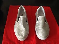IKKS GIRLS DAPHNE LOAFERS SILVER,SIZE-35