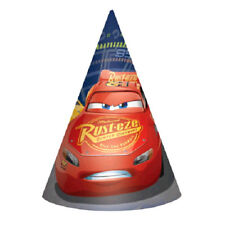 CARS 3 CONE HATS (8) ~ Birthday Party Supplies Favors Paper Disney Pixar McQueen
