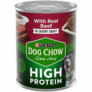 Purina Dog Chow High Protein Gravy Wet Dog Food 13 oz (12-Cans)