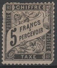 "FRANCE STAMP TIMBRE TAXE N° 24 "" TYPE DUVAL 5F NOIR "" NEUF x RARE A VOIR  K542"