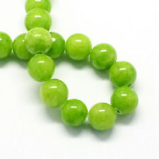 20 Jade Beads 6mm Apple Green Gemstone Beads 6mm Set of 20 - BD974