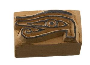 Occhio Horus Stampo Inchiostro Blocco Stampa Legno Sculpte 5422-23