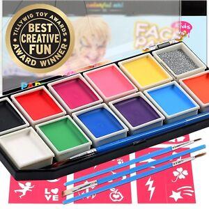 Award Winning Face Paint | Professional 12 Color Mega Palette Face Painting Kits