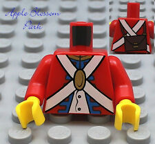 NEW Lego Pirates Imperial Red SOLDIER MINIFIG TORSO - Boy Uniform Pattern Upper