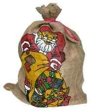 Jutesack mit wunderschönem Weihnachtsmotiv 80*54 cm XL Weihnachtsmann Geschenke