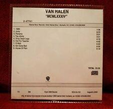 VAN HALEN - PROMO CD 1984 ALBUM STUDIO RECORDING - VERY RARE