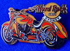 SYDNEY AUSTRALIA 2 TONE FLAME ORANGE MOTOR CYCLE BIKE 2004 Hard Rock Cafe PIN LE