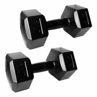 Hantelset 2 x 4 kg Schwarz Kunststoff | 2er Set Hantelscheiben Hanteln Gewichte