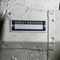 Harley Custom Vehicle Data Plate Serial Number ID Tag Sport glide Fat Boy V-Twin