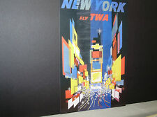TWA Airlines  Travel Poster New York   From American Express Travel Office