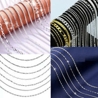 """Wholesale 20pcs/lot 925 Silver Filled Snake Water Wave Chain Necklace 16-30"""""""