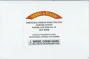 ARMIES IN PLASTIC French & Indian Wars 1754-63; 18 Figures; NIB