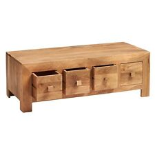 Aron Light Mango Eco Wood Handcrafted Furniture Coffee Table 8 Drawers