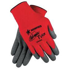 6 Pair Memphis Ninja Flex Latex Coated Nylon Work Gloves - Size: Large
