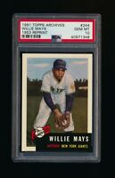 1991 Topps Archives 1953 Willie Mays Giants PSA 10 GEM MINT *A1348