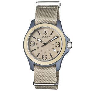 Victorinox Original Brown Men's Quartz Military Watch 241516
