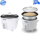 6 Cup Non Stick Inner Pot Style Rice Cooker Soup Stew Automatic Removable White photo