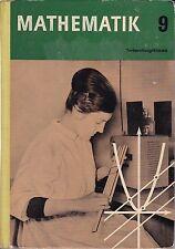 Mathematik 9. Klasse, DDR-Lehrbuch, Volk und Wissen 1967