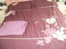 DOUBLE DUVET COVER< MATCHING PILLOW CASES & FITTED DOUBLE SHEET