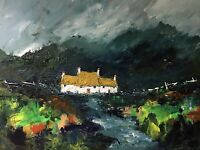 ORIGINAL PAINTING  Acrylic On Canvas 'Cottage On The Black Mountains'40x30cm
