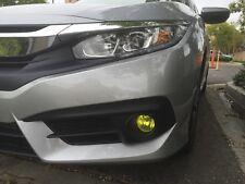 2016 2017 Honda Civic Yellow Fog light TINT PreCut Vinyl Film Overlays Rally JDM