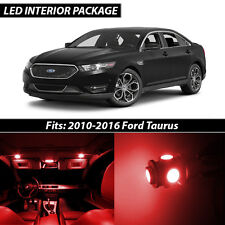 2010-2016 Ford Taurus Red Interior LED Lights Package Kit
