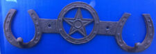 "Western Equestrian Tack Decor Horseshoe/Star Double Hook 13 1/4"" X 4 1/4"""