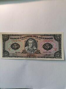 Ecuador 5 Sucres  von 1979  P.113 c UNC